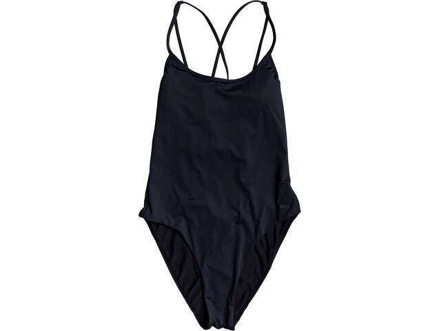 Roxy Solid Beach Classics Fashion One Piece Swimsuit Women true black